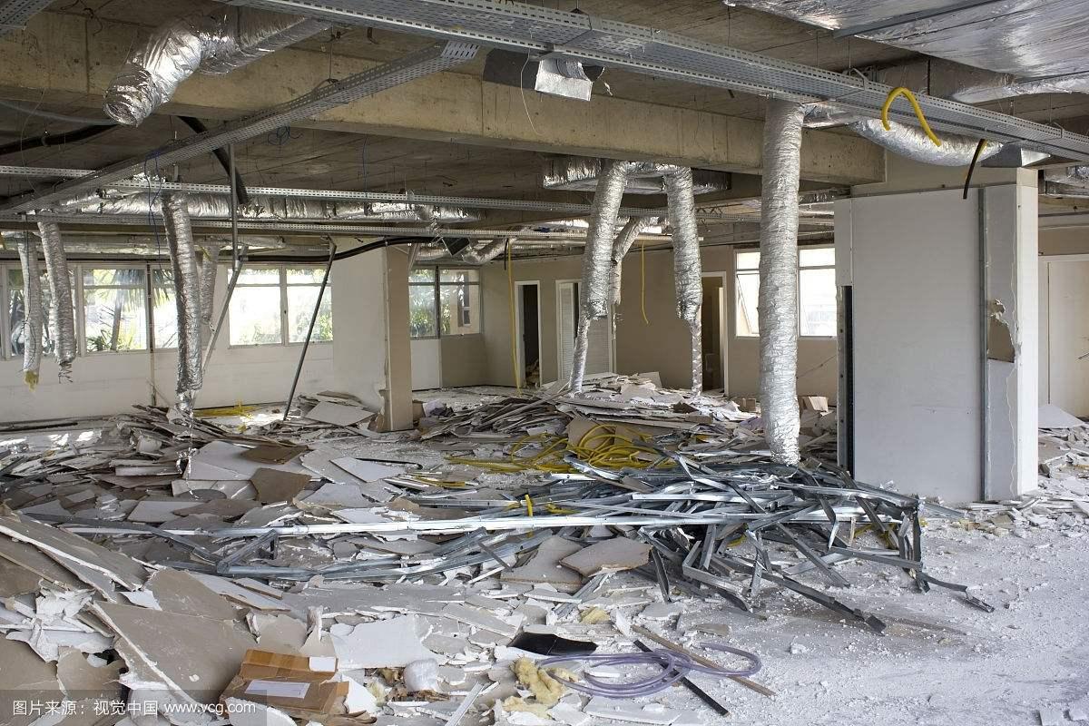 办公室地砖拆除