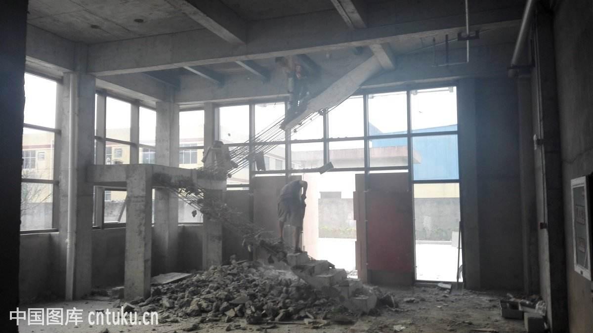 上海楼梯拆除现场